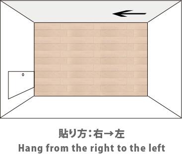 部屋を上から見た図 貼り方:右から左